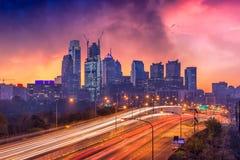 Skyline de Philadelphfia, Pensilvânia fotografia de stock royalty free
