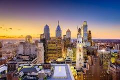 Skyline de Philadelphfia, Pensilvânia fotos de stock royalty free