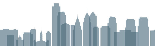 Skyline de Phladelphia Imagem de Stock Royalty Free