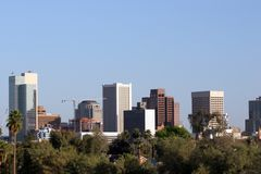 Skyline de Phoenix, AZ foto de stock