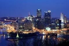 Skyline de Pittsburgh foto de stock royalty free