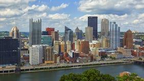 Skyline de Pittsburgh fotografia de stock