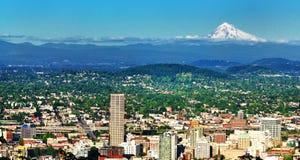 Skyline de Portland Imagens de Stock