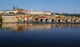 Skyline de Praga Imagens de Stock