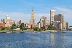 Skyline de Providence, Rhode - console Imagens de Stock