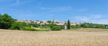 Skyline de Puimoisson em Provence, França fotos de stock