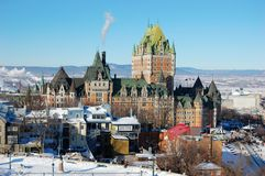 Skyline de Quebec City Fotografia de Stock