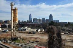 Skyline de Raleigh do Grunge fotos de stock royalty free