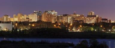Skyline de Regina, Saskatchewan Foto de Stock Royalty Free