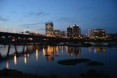 Skyline de Richmond na noite fotografia de stock