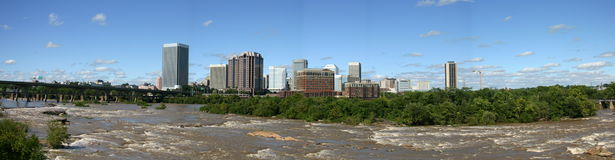 Skyline de Richmond - panorama imagem de stock