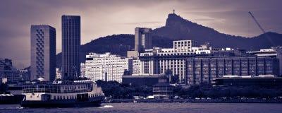 Skyline de Rio de Janeiro Fotografia de Stock
