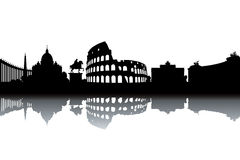 Skyline de Roma Foto de Stock Royalty Free