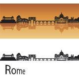 Skyline de Roma ilustração stock