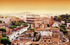 Skyline de Roma Imagens de Stock