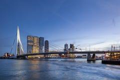 Skyline de Rotterdam fotografia de stock royalty free