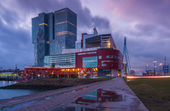 Skyline de Rotterdam foto de stock