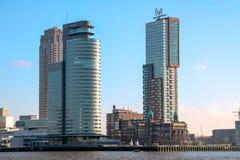 Skyline de Rotterdam, Países Baixos Fotografia de Stock