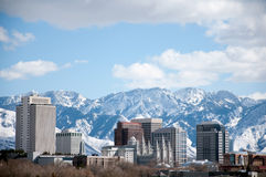 Skyline de Salt Lake City Foto de Stock Royalty Free