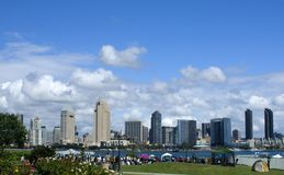 Skyline de San Diego Fotos de Stock Royalty Free