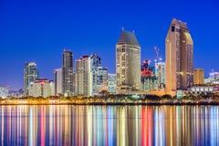 Skyline de San Diego, Califórnia, EUA imagem de stock royalty free