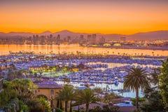 Skyline de San Diego, Califórnia, EUA fotografia de stock