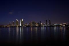 Skyline de San Diego na noite Foto de Stock