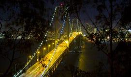 Skyline de San Francisco na noite Fotografia de Stock
