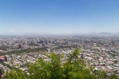 Skyline de Santiago de Chile vista de Cerro San Cristobal fotografia de stock royalty free