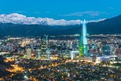 Skyline de Santiago do Chile imagens de stock royalty free