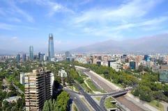 Skyline de Santiago, o Chile Imagens de Stock Royalty Free