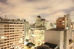Skyline de Sao Paulo na noite Imagem de Stock Royalty Free