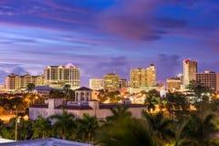 Skyline de Sarasota, Florida Fotografia de Stock