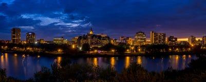 Skyline de Saskatoon imagem de stock