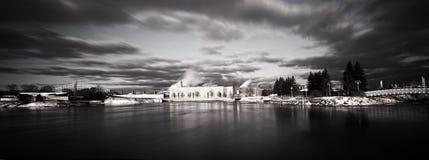 Skyline de Sault Ste. Marie B&W Imagem de Stock