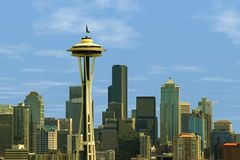 Skyline de Seattle Fotografia de Stock