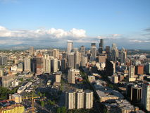Skyline de Seattle centrada Fotos de Stock