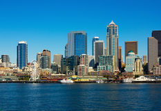 Skyline de Seattle, estado de Washington Foto de Stock Royalty Free
