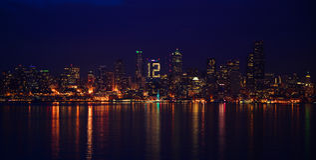 Skyline de Seattle para Seahawks Imagens de Stock