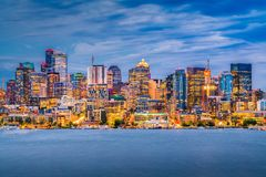 Skyline de Seattle, Washington, EUA imagens de stock royalty free