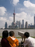 Skyline de Shanghai fotos de stock
