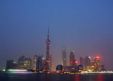 Skyline de Shanghai fotos de stock royalty free