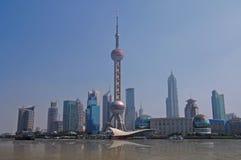 Skyline de Shanghai fotografia de stock royalty free