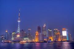 Skyline de Shanghai durante a EXPO fotos de stock