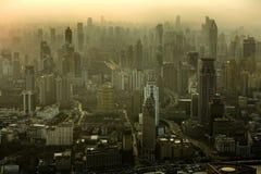Skyline de Shanghai no por do sol Fotos de Stock Royalty Free