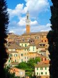 Skyline de Siena. imagem de stock