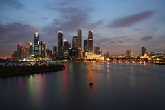 Skyline de Singapore Fotos de Stock Royalty Free