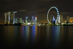 A skyline de Singapore Imagem de Stock Royalty Free