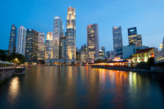 Skyline de Singapore Foto de Stock Royalty Free