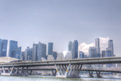 Skyline de Singapore CBD Fotos de Stock Royalty Free